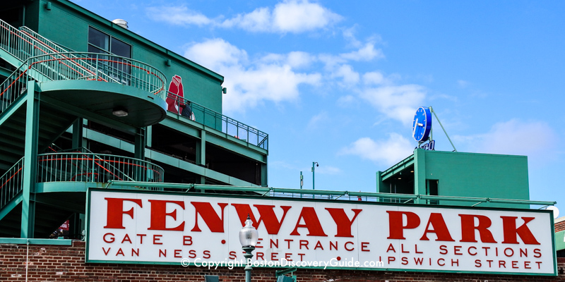 Fenway Park's Gate B entrance sign