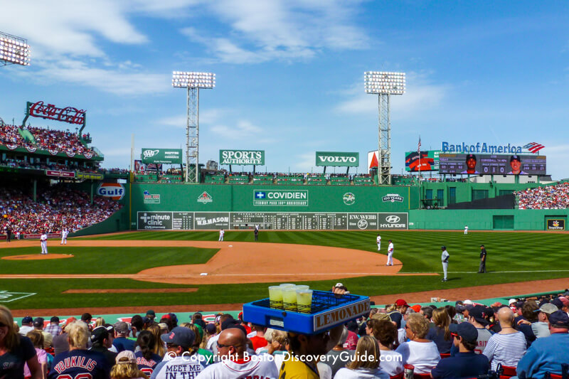 Boston Red Sox taking on the Tampa Bay Rays at Fenway Park