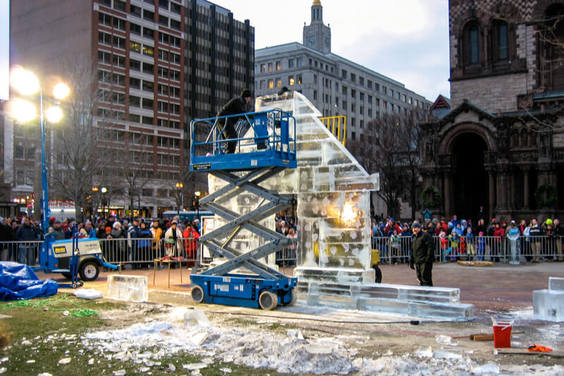 Ice sculptures at First Night Boston - photo courtesy of Eric McCarthy