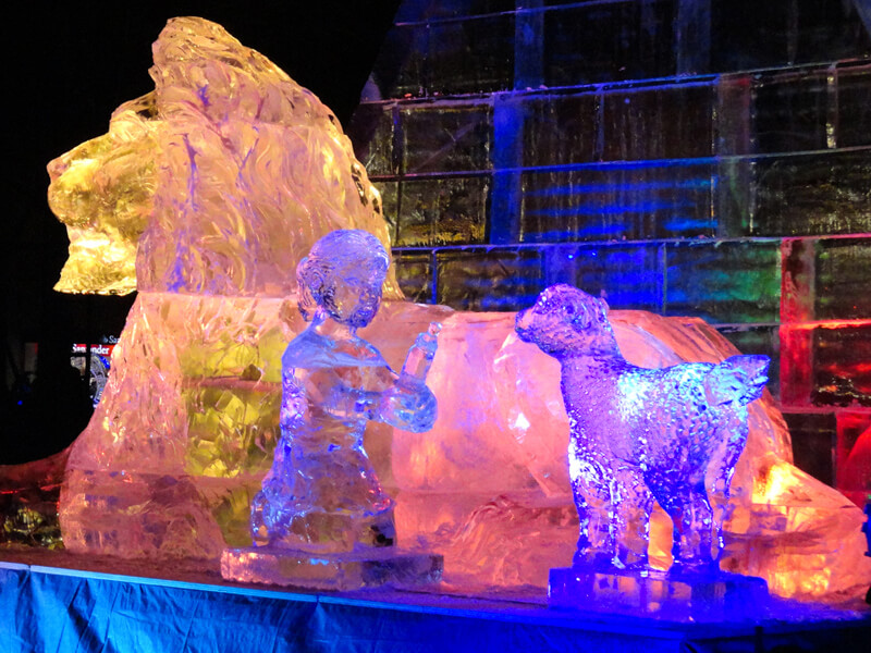First Night Boston ice sculpture