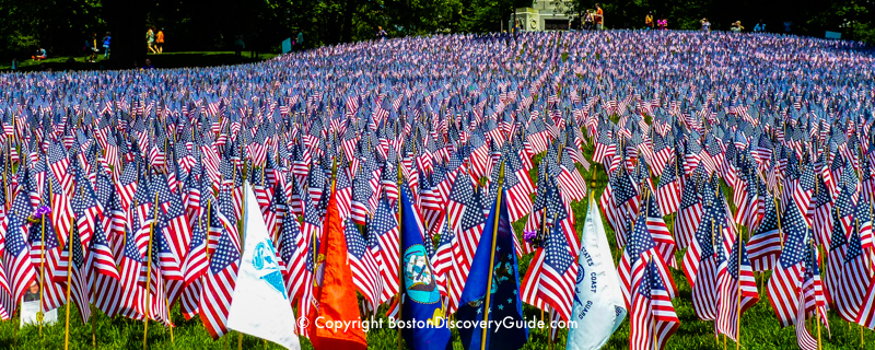 Garden of Flags in Boston