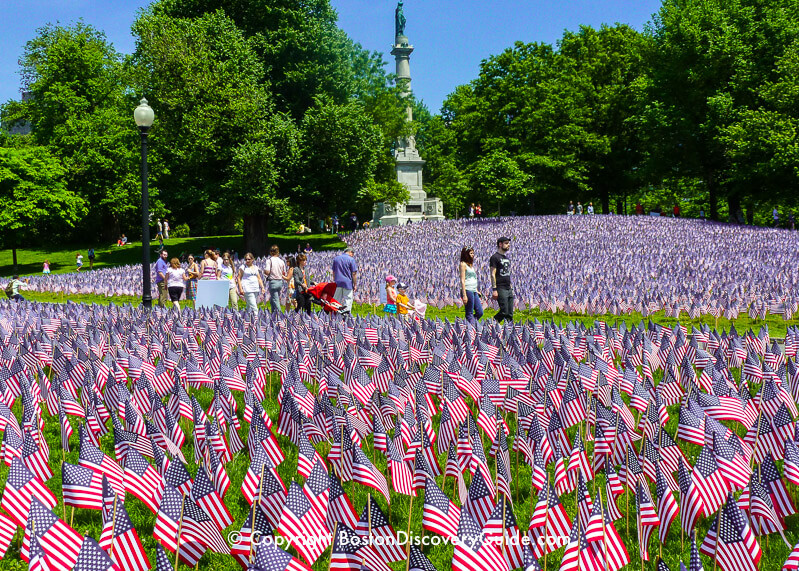 Garden of Flags on Boston Common