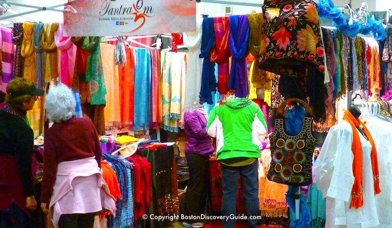 Boston Flower and Garden show - clothing vendor