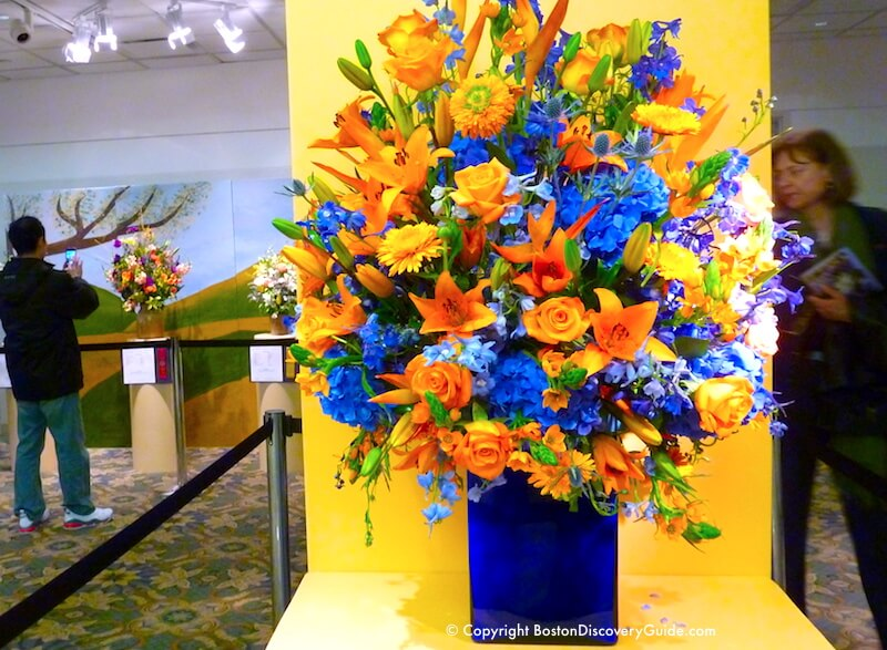 Boston Flower and Garden Show - flower arrangement contest winner