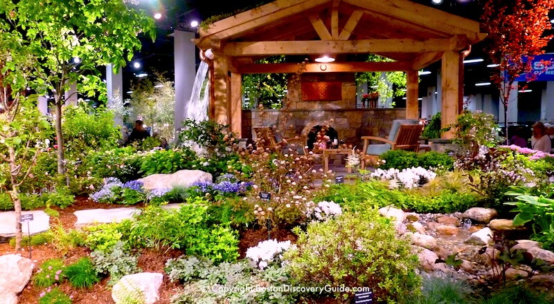 Boston Flower and Garden Show - outdoor seating display
