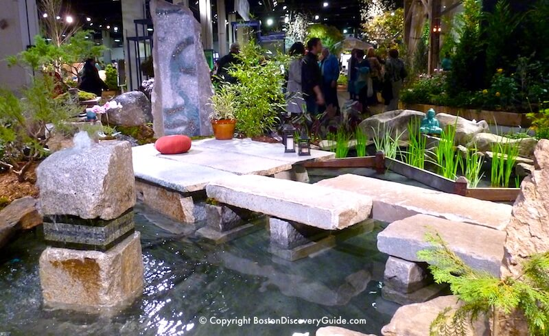 Boston Flower and Garden Show - water garden