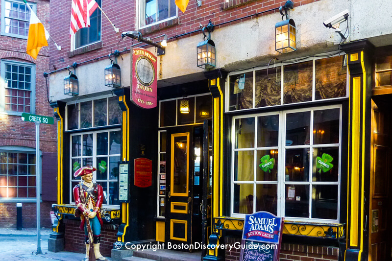 Green Dragon Tavern in Boston's historic downtown