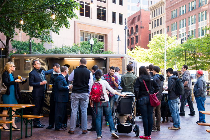 Trillium Beer Garden on Boston's Greenway