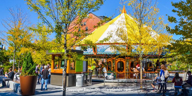 Carousel on Boston's Greenway