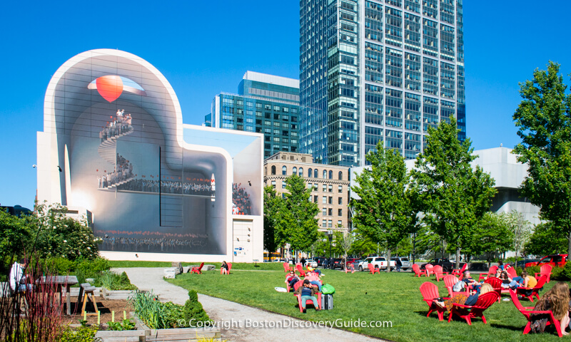 Near Dewey Square on the Rose Kennedy Greenway in Boston