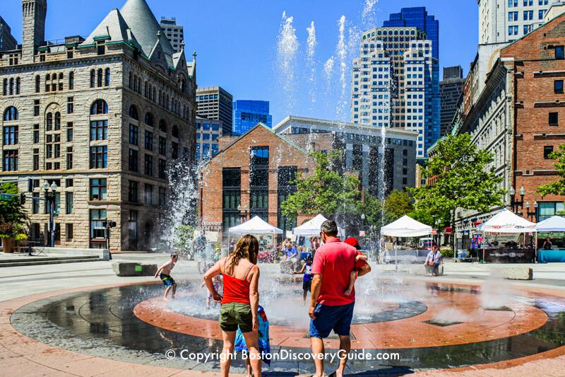 Splash fountain on the Greenway