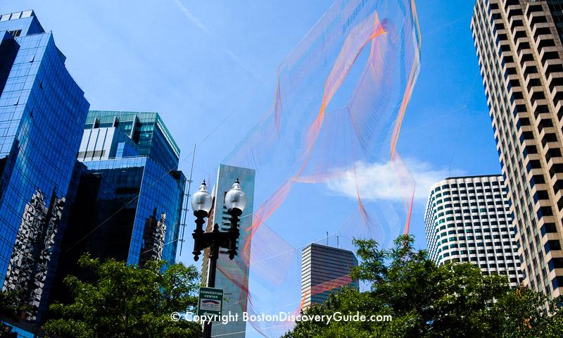 Boston's Greenway attraction:  Sculpture