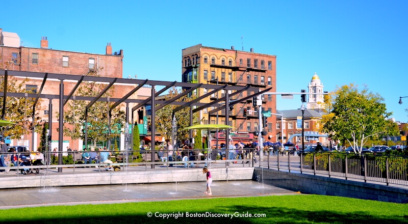 Splash pool on the Rose Kennedy Greenway - Mid-October