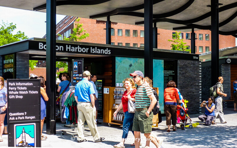 Boston Harbor Islands Ticket Kiosk on the Rose Kennedy Greenway