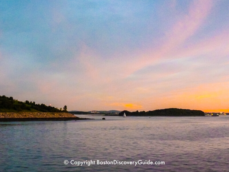 Boston Harbor Islands at sunset