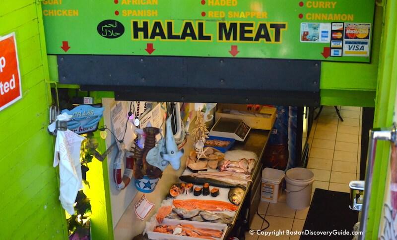 Seafood at the Halal Store on Blackstone Street