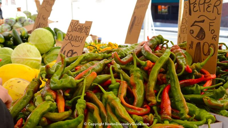 Large hot peppers at Haymarket