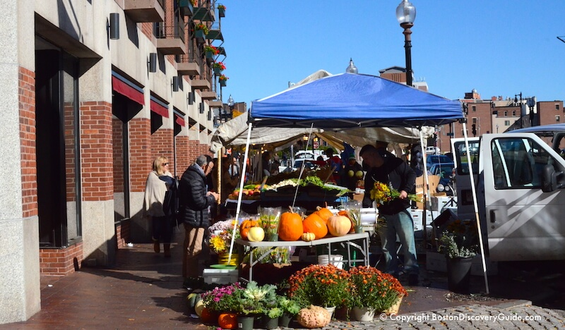 Fall flowers and produce at Haymarket
