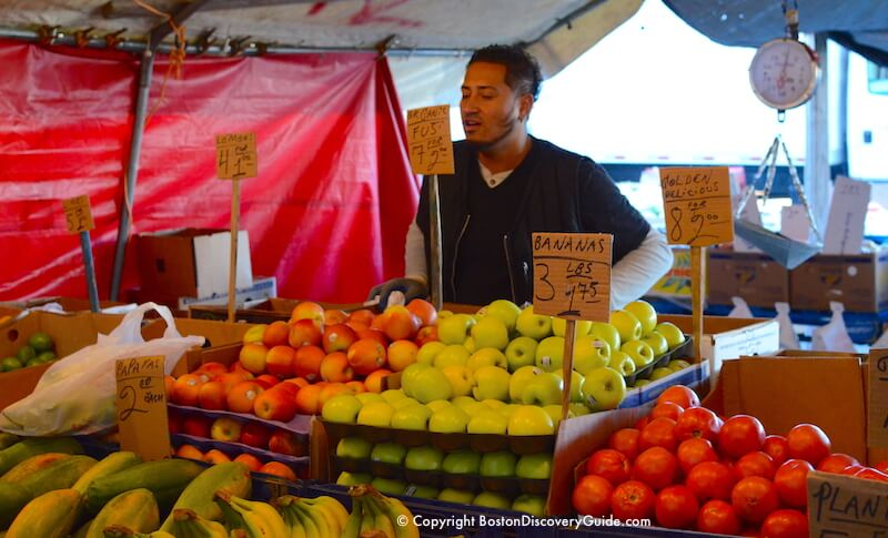 You can even find some organic produce at Haymarket
