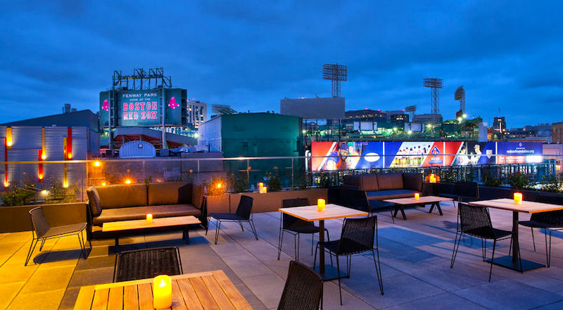Hotel Commonwealth overlooking Boston's Fenway Park