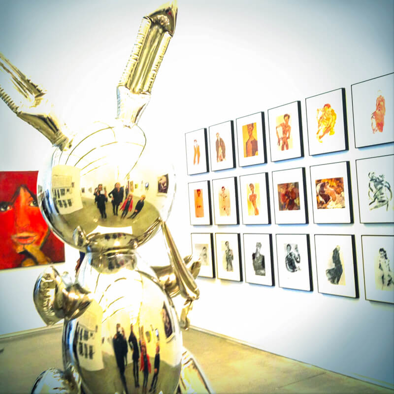 Jeff Koons exhibit at ICA Boston - Photo credit: Rob Zand