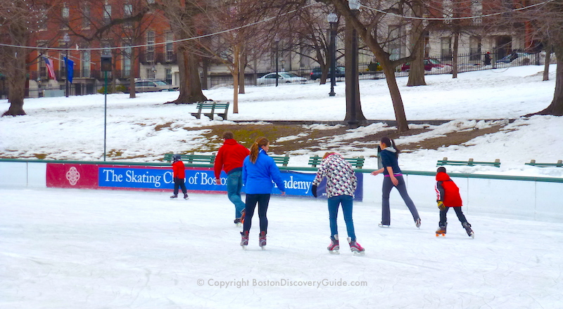 February vacation week in Boston - Ice skating on Frog Pond
