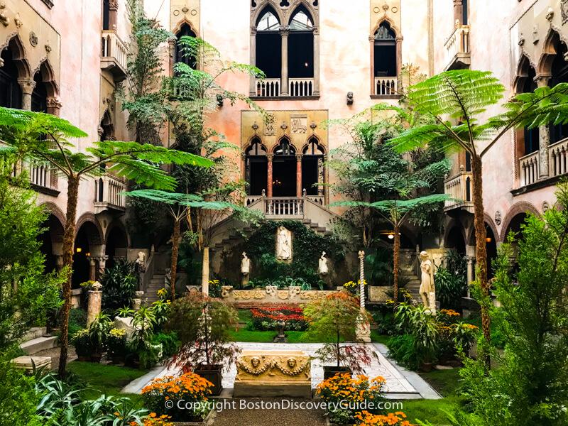 Inner courtyard at the Isabella Stewart Gardner Museum