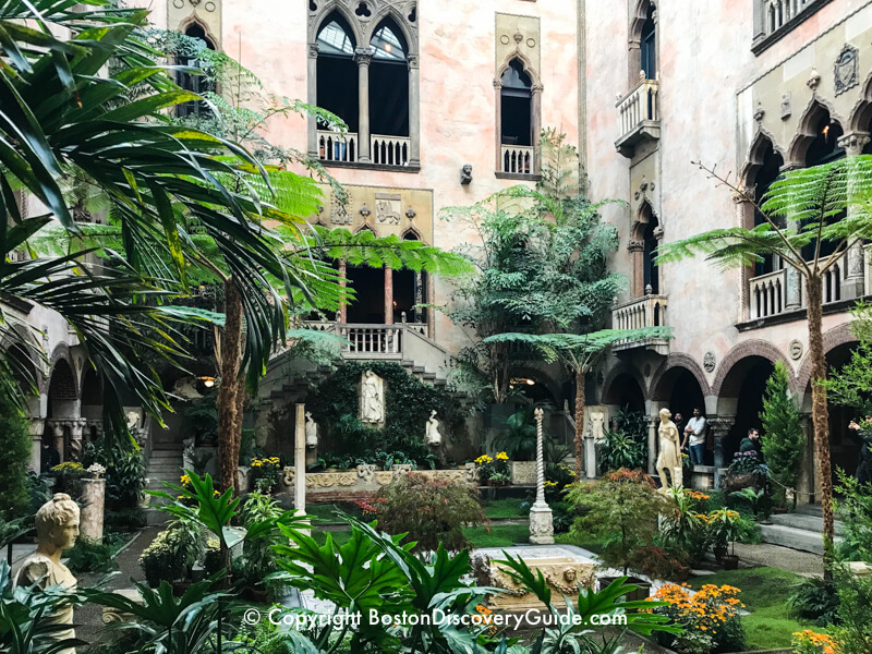Interior courtyard at Isabella Stewart Gardner Museum - an oasis of green even on the coldest March days