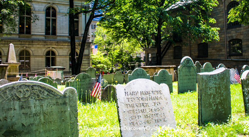 Kings Chapel Burying Ground - Freedom Trail - Boston