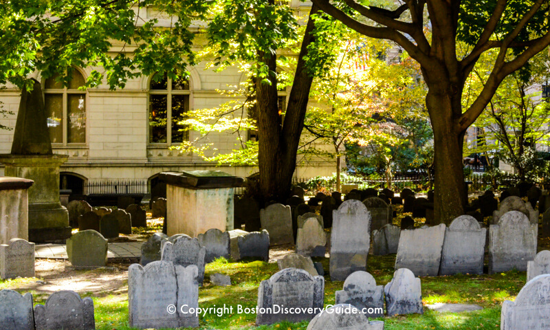 King's Chapel Burying Ground in early autumn