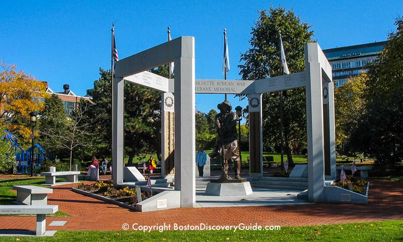 Massachusetts Korean War Monument in Charlestown