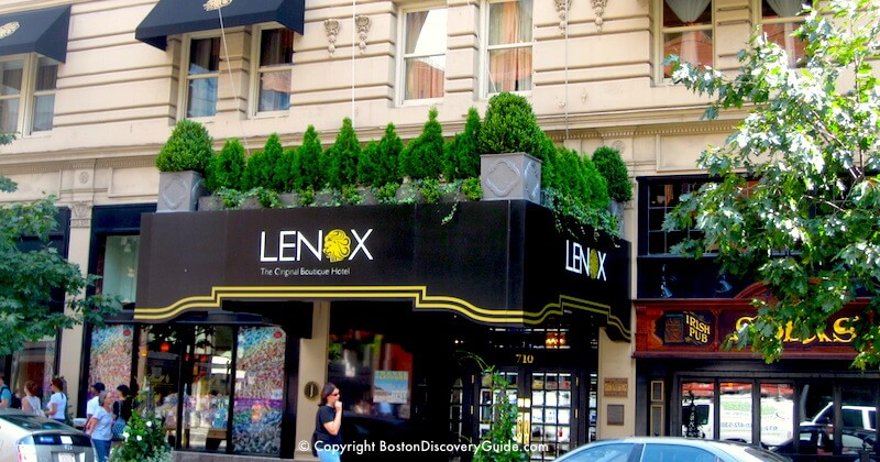 Lenox Hotel on Boylston Street - Less than 200 feet from the Boston Marathon Finish Line