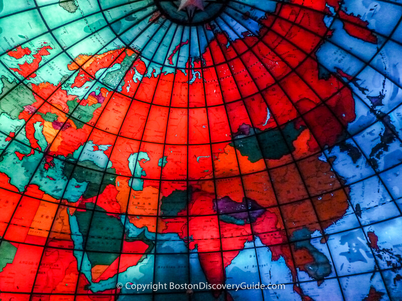 View from inside the Mapparium
