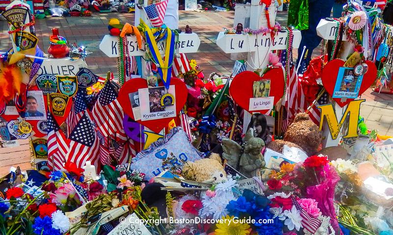 Boston Marathon Bombing Memorial - Photos the four people killed by the Marathon bombers