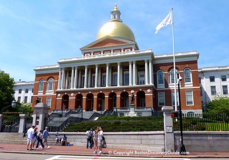 Massachusetts State House on Beacon Hill