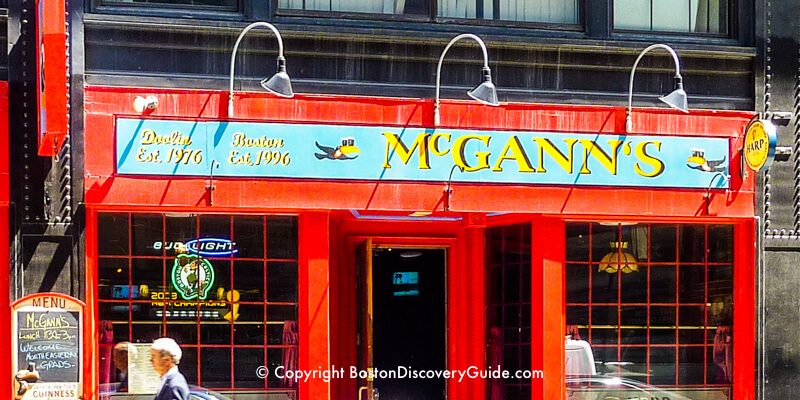 McGann's Irish Pub near TD Garden in Boston