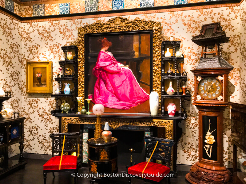 Period room in the Decorative Arts of the Americas gallery at Boston's Museum of Fine Arts