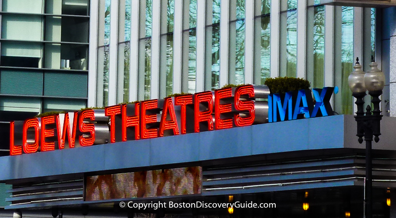Boston Movie Theaters:  Loews Theatres on Boston Common
