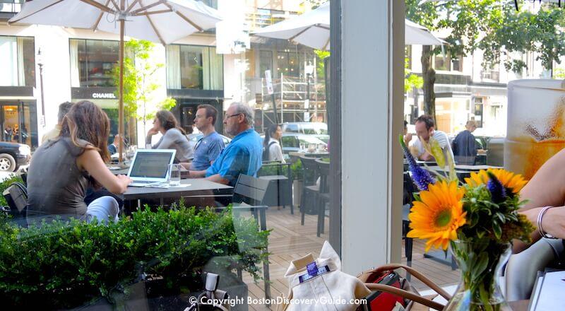 Nespresso outdoor seating in Boston
