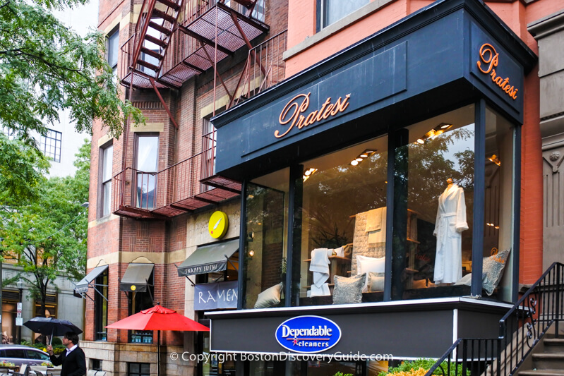 Pratesi - luxury linens on Newbury Street