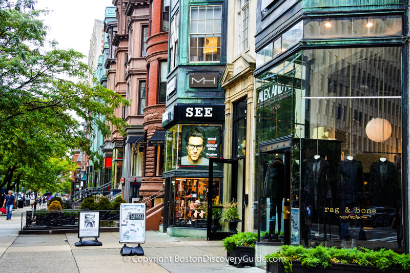 Rag & Bone, nestled among Newbury Street's historic brownstones