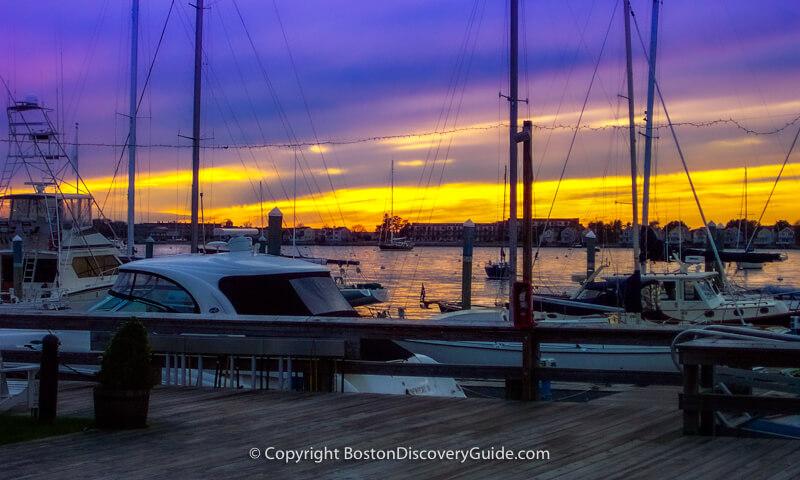 Newport Harbor at sunset