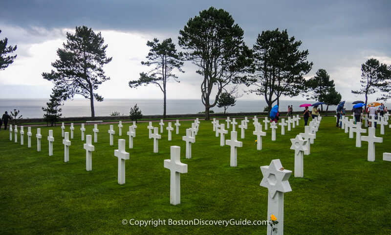 American graves in Normandy