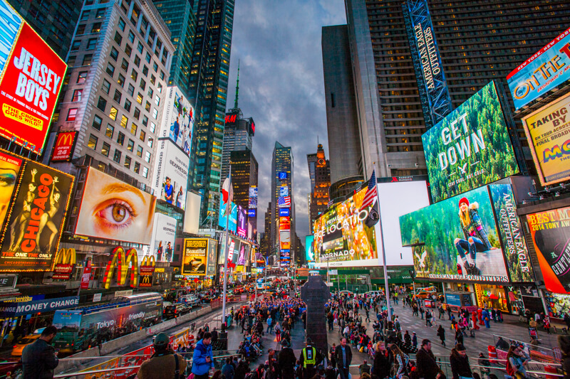 Broadway shows and Times Square