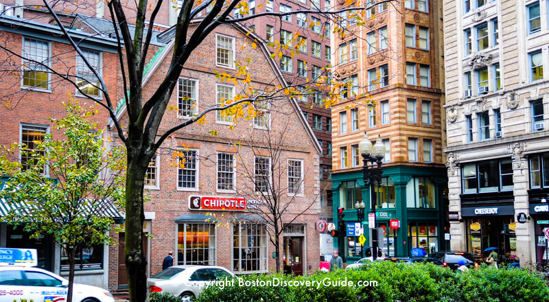 Old Corner Bookstore on the Freedom Trail Boston Discovery Guide
