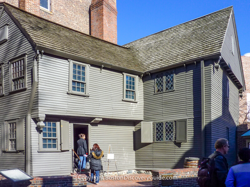 17th century Paul Revere House in Boston's North End