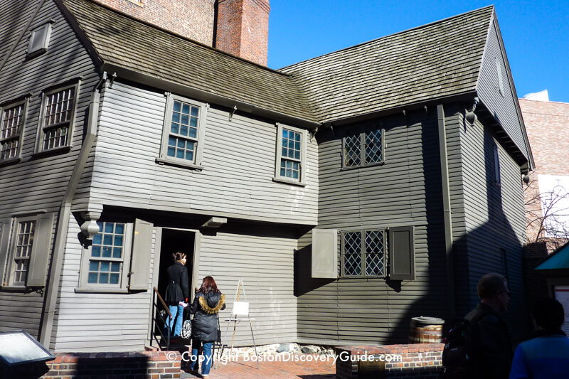 Back of Paul Revere's House, which you can see during a tour