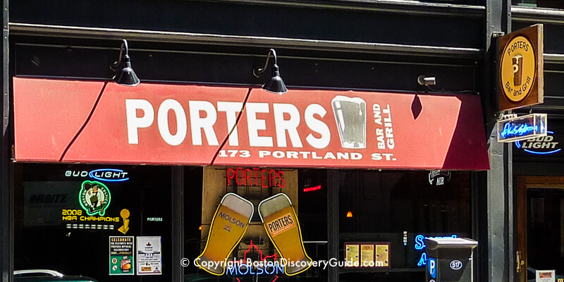 Porters Bar and Grill near TD Garden in Boston