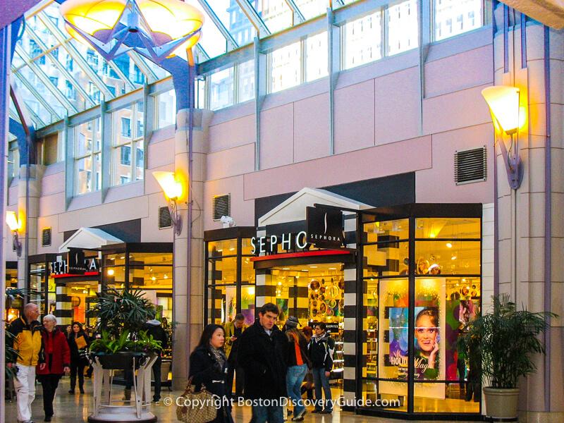 Boutique display in Pru Center