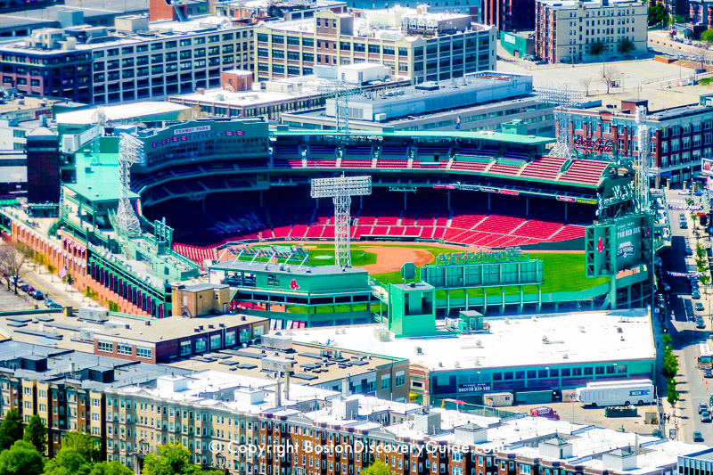 Fenway Park viewed from Prudential Skywalk
